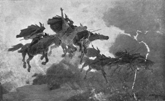 John Charles Dollman The Ride of the Valkyrs