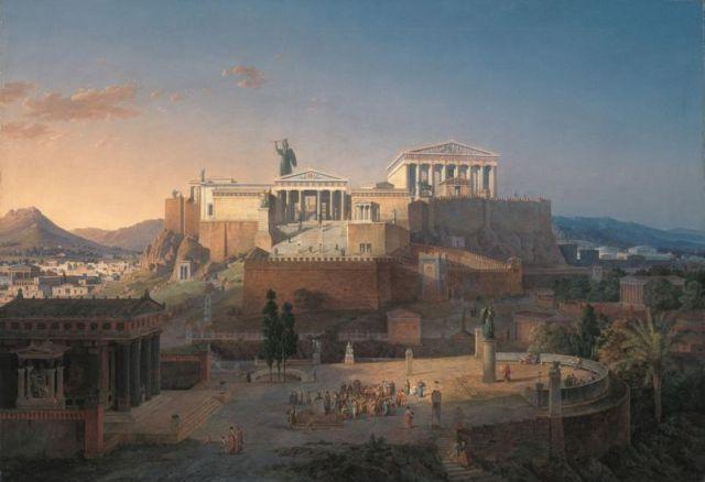 Leo von Klenze Reconstruction of Acropolis 1846
