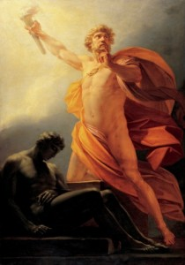 """Heinrich Füger, """"Prometheus Brings Fire to Mankind,"""" 1817"""