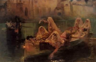 Arthur Bridgman - The harem boats