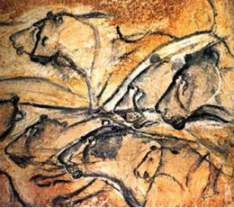 Lions, Chauvet cave, France, painted around 35,000 years ago